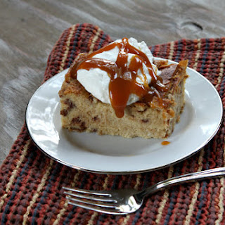 Cinnamon - Caramel Bread Pudding.