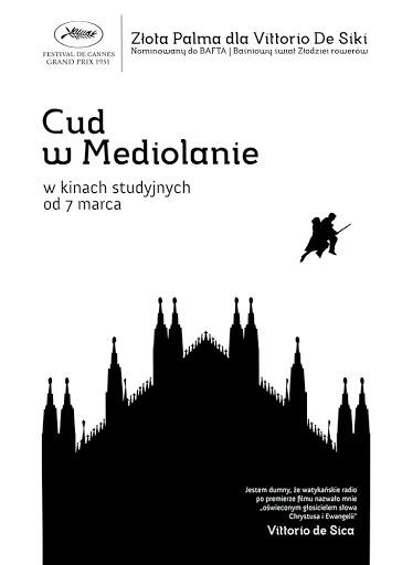 Przód ulotki filmu 'Cud W Mediolanie'