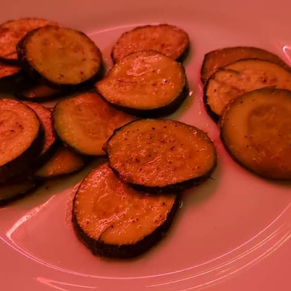 Grilled zucchini side