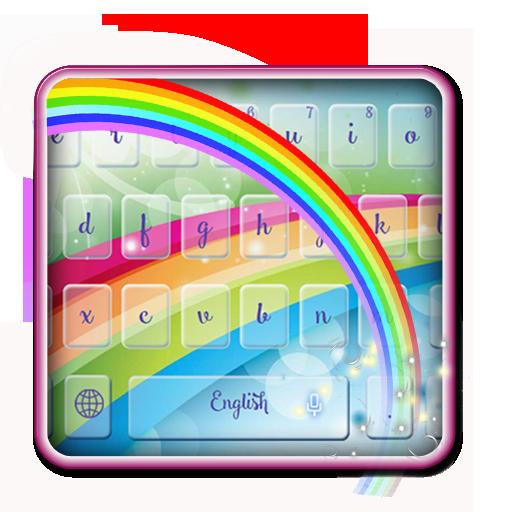 Crescent rainbow keyboard