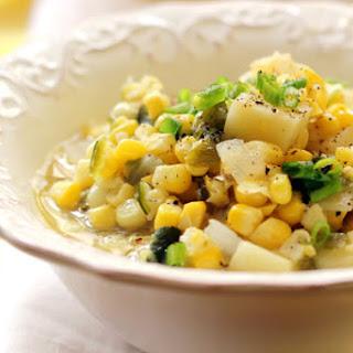 Roasted Poblano Corn Chowder.
