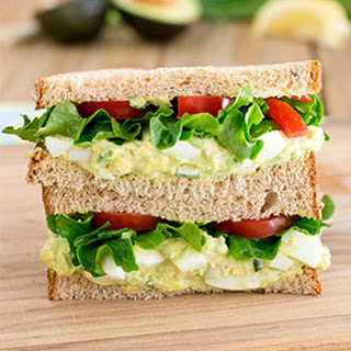 Avocado Egg Salad Sandwich.