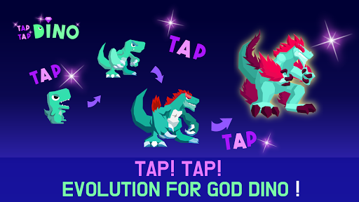 Tap Tap Dino : Grow my dino ( Idle & Clicker RPG )  captures d'écran 1