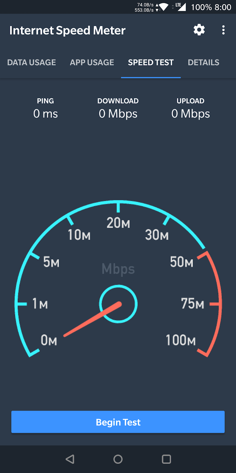 Internet Speed Meter Screenshot 1
