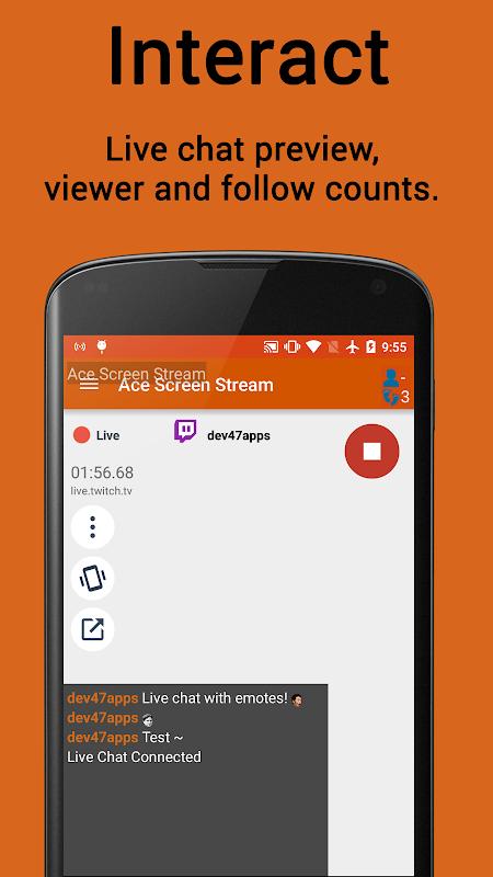 Ace Live Streaming & PC Mirroring screenshots
