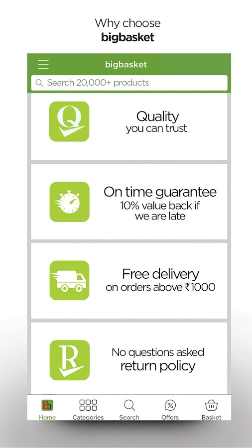 bigbasket - online grocery- screenshot