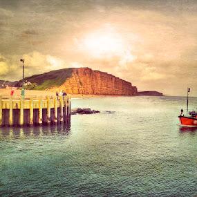 Sailing Into Port by Nigel Finn - Transportation Boats