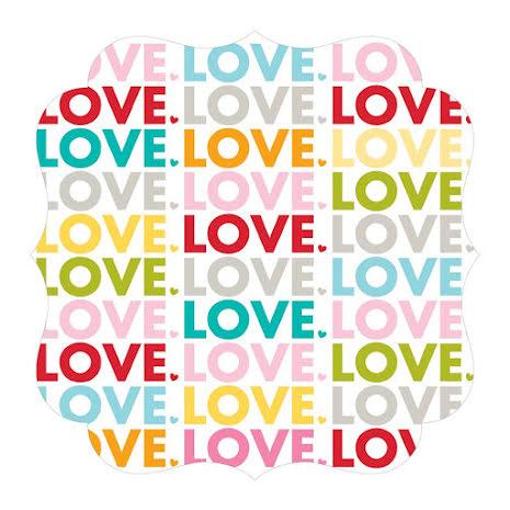 Bella Blvd Invisibles Die-Cut Plastic Sheet 12X12 - Color Chaos, Love UTGÅENDE