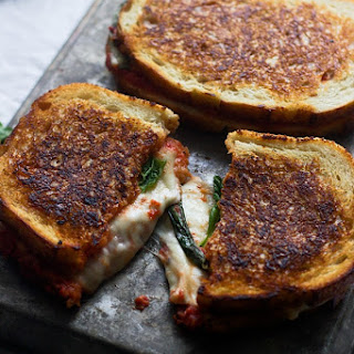 Pizza Margherita Grilled Cheese.