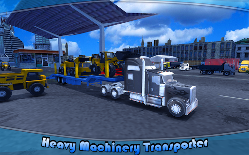 Heavy Machinery Transporter Truck Simulator 1 screenshots 1