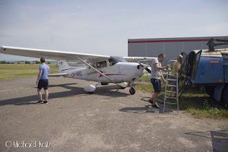 Photo: Dagen etter. Captain Katz har ført oss til flyplassen Mnichovo Hradiště 20 minutters flytur nordøst for Praha.