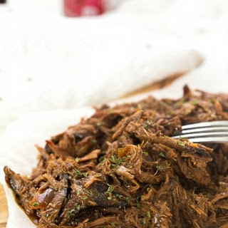 Four-Ingredient Slow Cooker Dr. Pepper Pulled Pork.