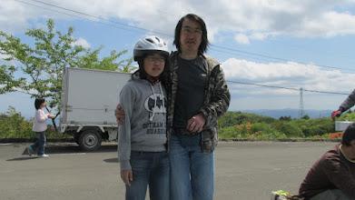 Photo: 水沢からの親子 2012年の大会再開時にコース整備や、大会時に立哨に何度も来てくれていたN村さん、Kさんたちのお知り合いだそう。