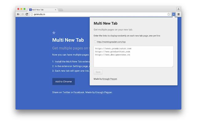 Multi New Tab