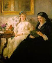"""Photo: Berthe Morisot, """"Lettura. La madre e la sorella Edma"""" (1869)"""