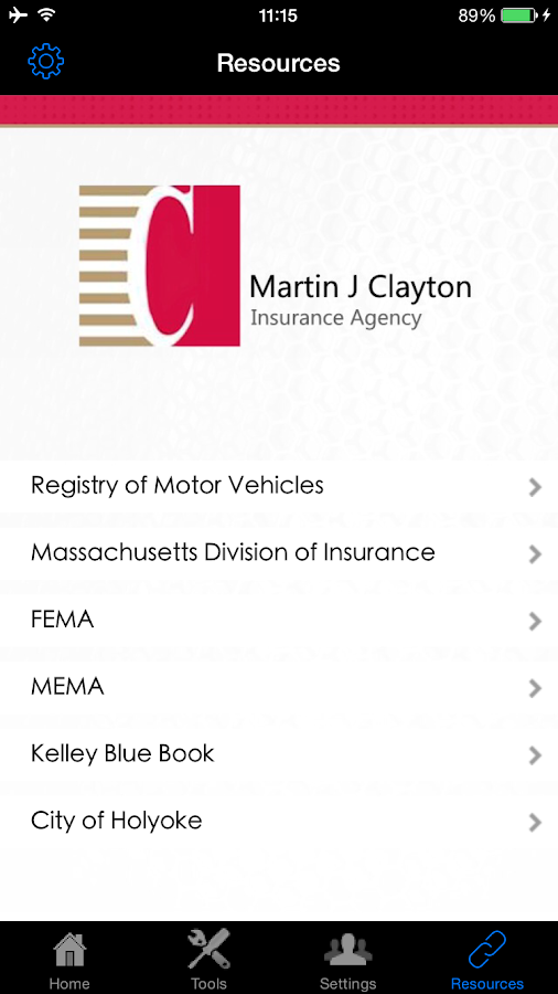 Martin J Clayton Insurance- screenshot