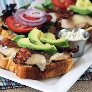 Bacon Avocado Chicken Club with Garlic-Basil Mayo