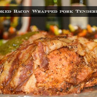 Smoked Bacon Wrapped Pork Tenderloin.
