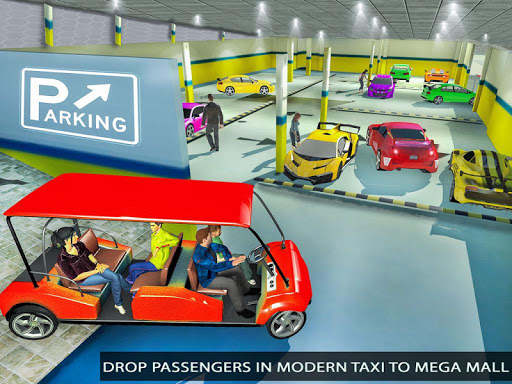 Shopping Mall Radio Taxi: Car Driving Taxi Games apkslow screenshots 13