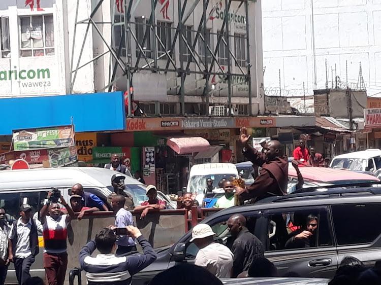 Image result for Peter Tabichi congratulatory billboard put up on the Nakuru-Nairobi highway