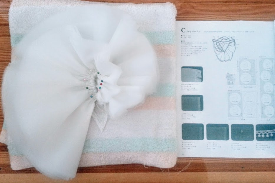 Materials: Black and White Organza Bloom Neckpiece - DIY Fashion project | fafafoom.com