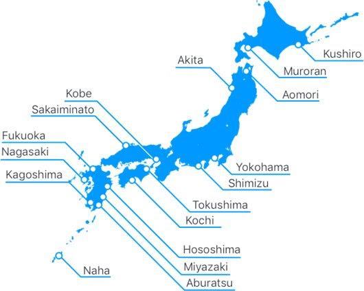 Морские порты Японии