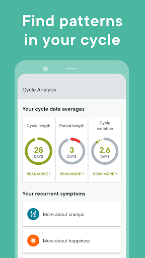 Period Tracker Clue - Ovulation and Cycle Calendar screenshot 3