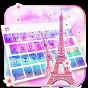 Sky Sakura Paris Love Keyboard Theme icon