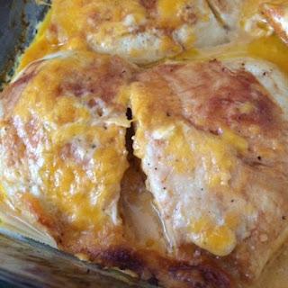 Easy Cheesy BBQ Ranch Chicken Bake.