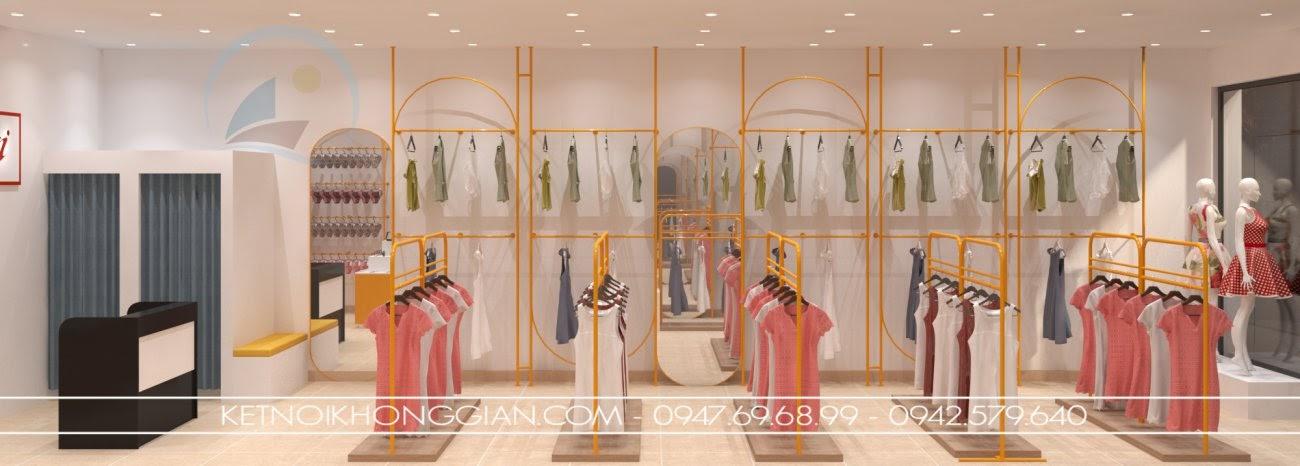 thiết kế nội thất cửa hàng thời trang tại hà nội