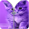 Kitty Zipper Screen Lock Free icon