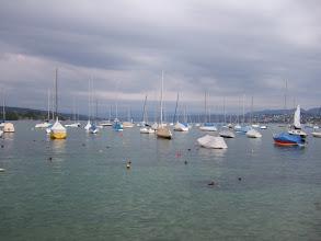 Photo: Яхты стоят зачехленные, потому что непогода - лишь недавно прекратился дождь.