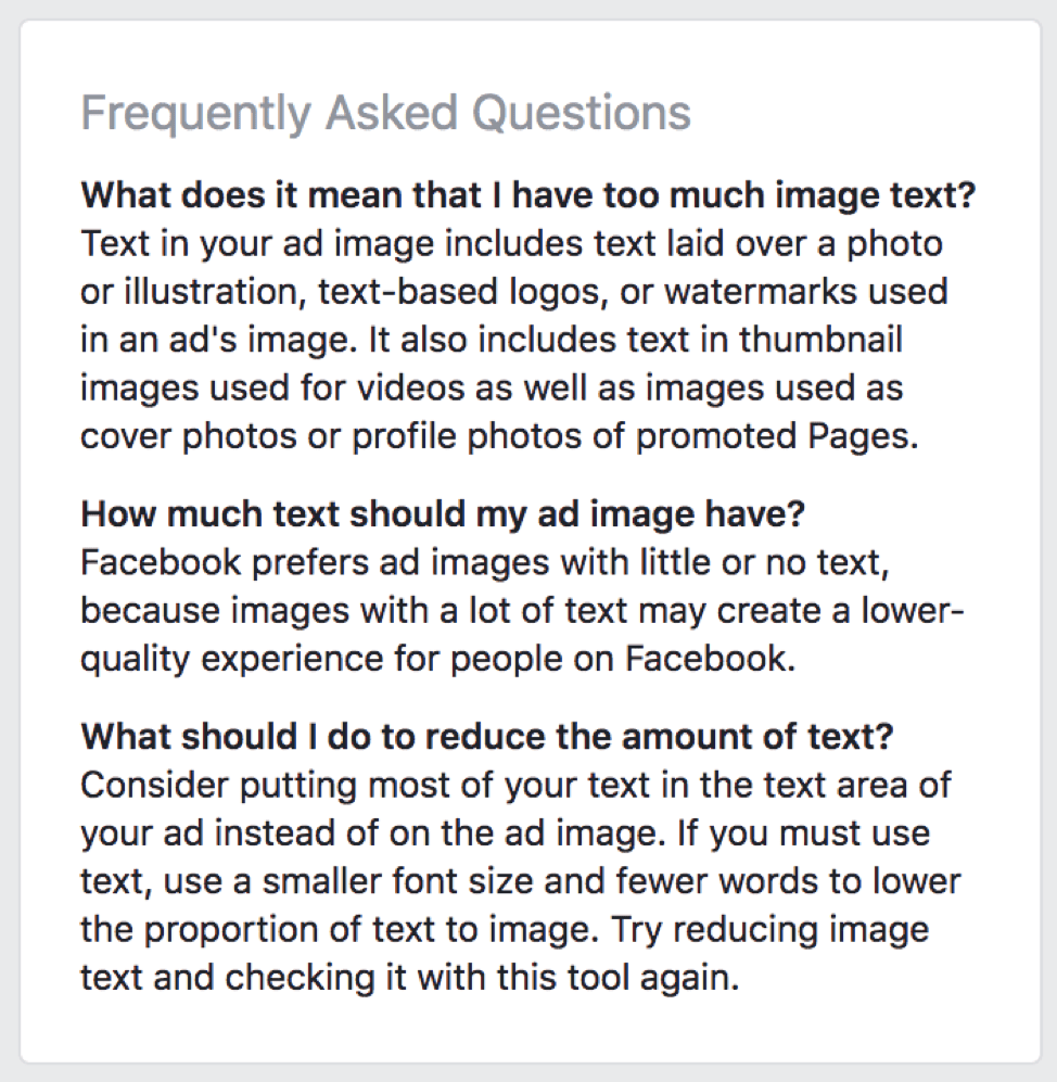 Facebook Ad Not Approved Facebook Ad Image Frequently Asked Questions