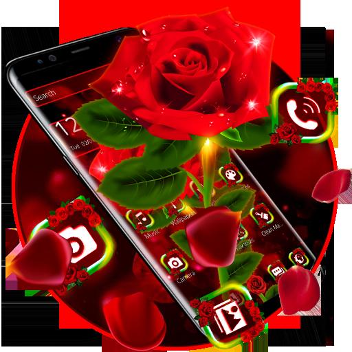 Shiny Red Rose Theme