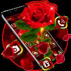 Tema brillante rosa roja icon