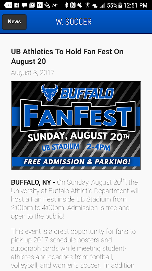 Buffalo Bulls Front Row- screenshot
