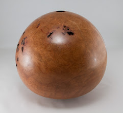 "Photo: Eliot Feldman 9"" x 10"" hollow form [cherry burl]"