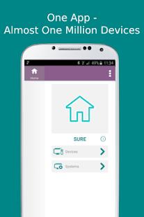 0 SURE Universal Remote App screenshot