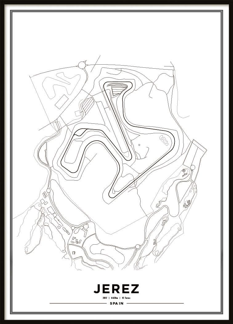 Poster, Circuito de Jerez Vit