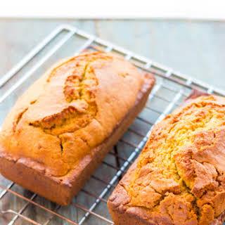 Quick Pumpkin Bread with Homemade Pumpkin Puree.