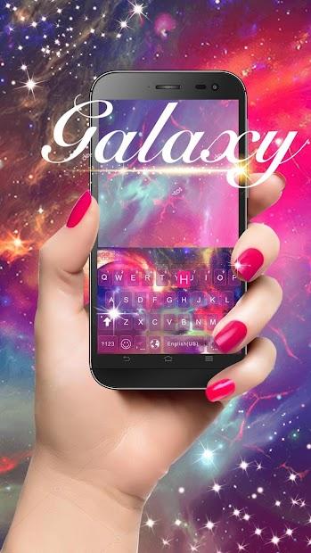 Dreamer Galaxy Emoji Keyboard Theme Android App Screenshot