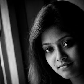 Mystery by Abhishek Chakraborty - People Portraits of Women