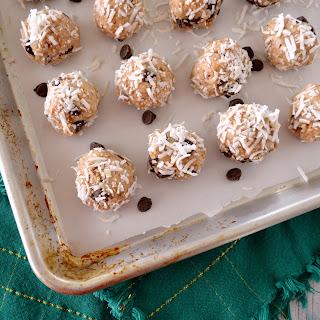 No-Bake Paleo Almond Joy Cookies.