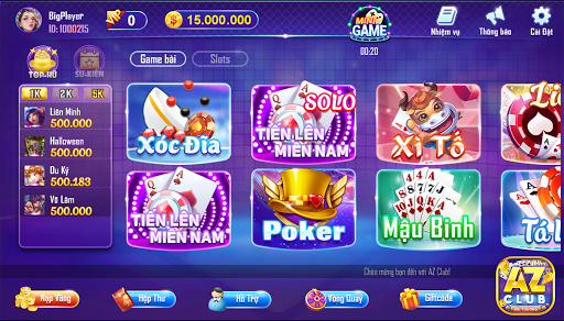 Game Danh Bai Doi Thuong AZ Club Online 2020 1.0 screenshots {n} 2