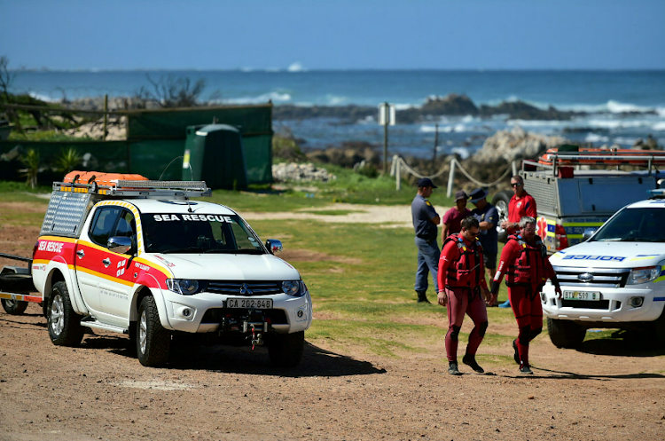 Two divers were rescued after they drifted more than 8km away from where they went missing.