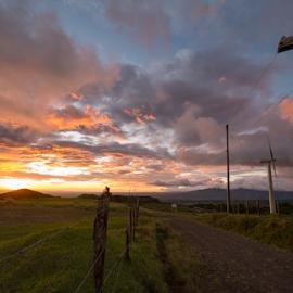 Parque de eólicas by Annette Flottwell - Landscapes Weather ( atardecer, luz, noviembre, renewable energy, viento, sunset, guanacaste, tierras morenas, clouds, eolicas, nubes,  )