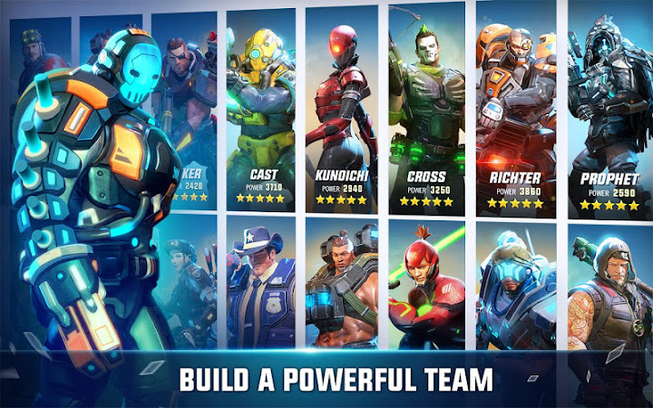 Hero Hunters Android App Screenshot