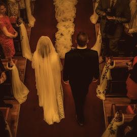 Wedding Day by Jurica Žumberac - Wedding Bride & Groom ( bride, love, groom, couple, marriage, church, wedding )