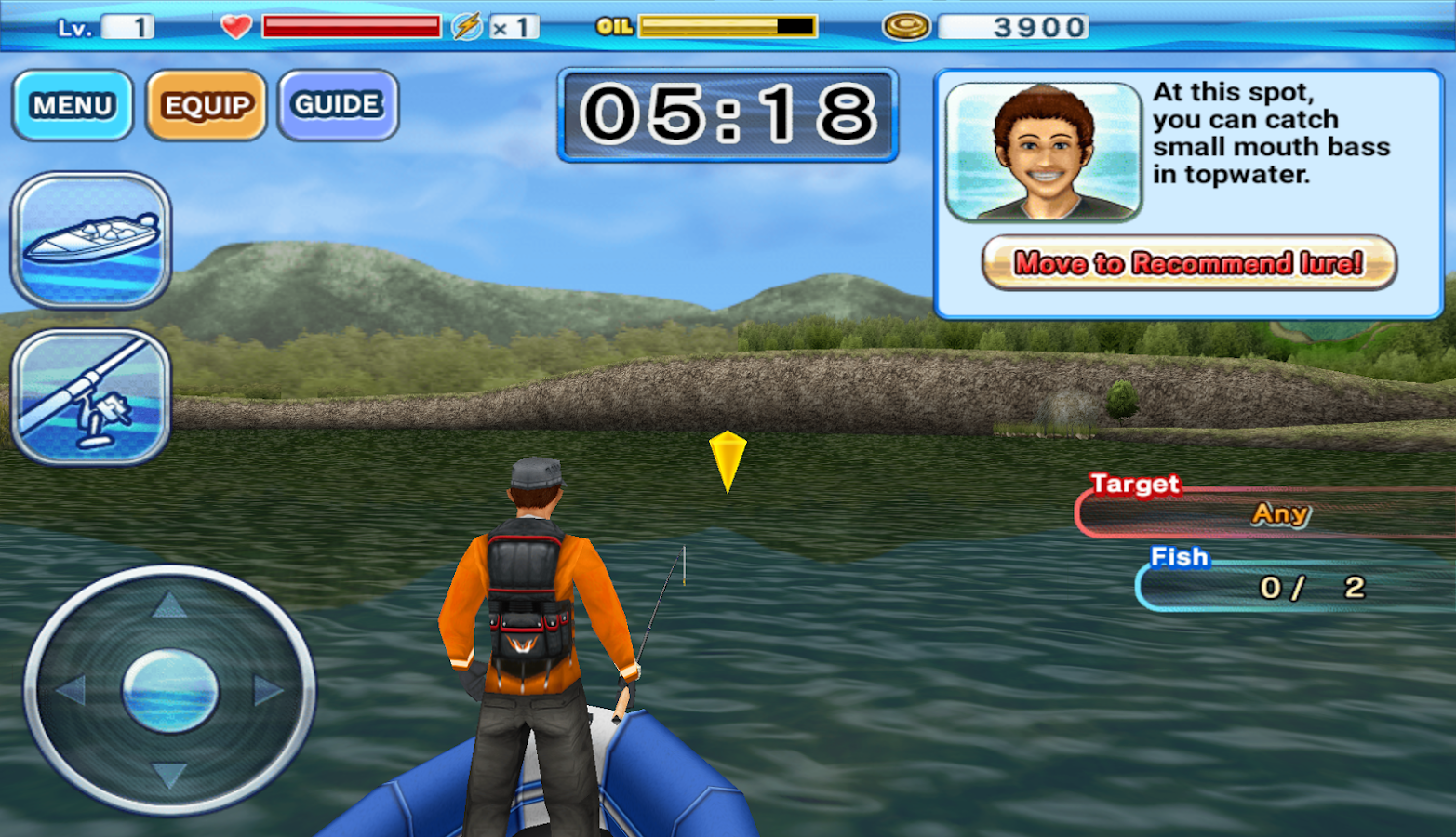 Bass 39 n 39 guide lure fishing android apps on google play for Fishing game android