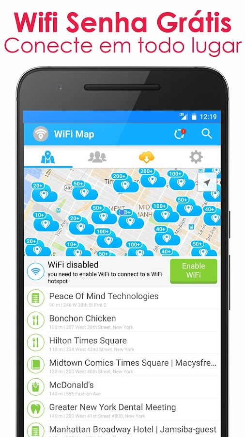 WiFi Map - Senhas Gratis: captura de tela